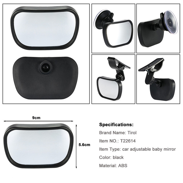 2 in 1 Mini Safety Car Back Seat Baby View Mirror Adjustable Baby Rear Convex Mirror Car Baby Kids Monitor  3
