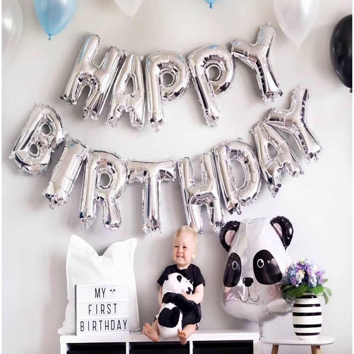 Happy Birthday Balloon Air Letters Alphabe Ramadan Foil Balloons Kids Toy Wedding Party Birthday Helium Globos Party Baloon