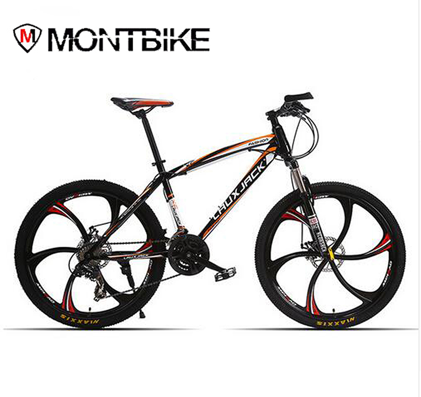 LAUXJACK Mountain Bike Men And Women Bicycle 24 Speed Bicycle Student Car 26 Inches Mountain Bike