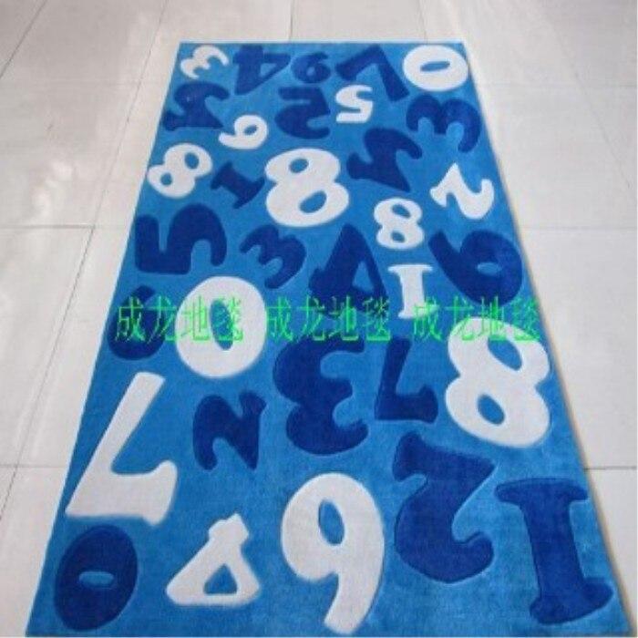 Fait à la main la préparation de polyacrylonitrile fibre tapis salon tapis table basse tapis numérique enfant tapis 2 3