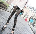 Free Shipping New Fashion Leggings Rose Lace PU leather Leggings Skinny Stretch Pants for spring summer and fall