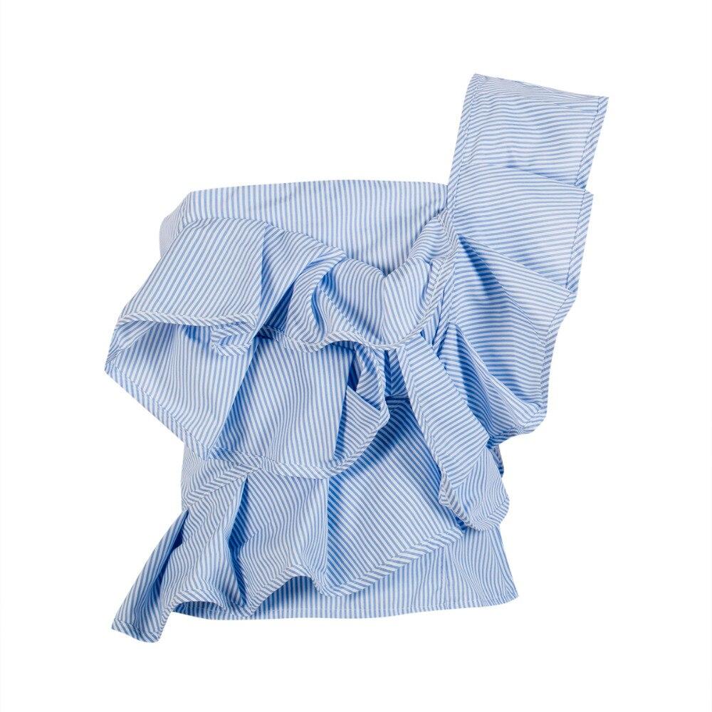 Fashion Women Summer Palid Ruffles Off Shoulder Sleeveless Blouse Shirts Cotton Floral Party Club Streetwear Bodycon Tops Shirt