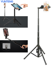Adjustable Stand Carry Bag Portable Pad Tablet Lightweight YUNTENG Tripod For iPad Mini/For Samsung Galaxy Tab 7-10 Inch Tablet