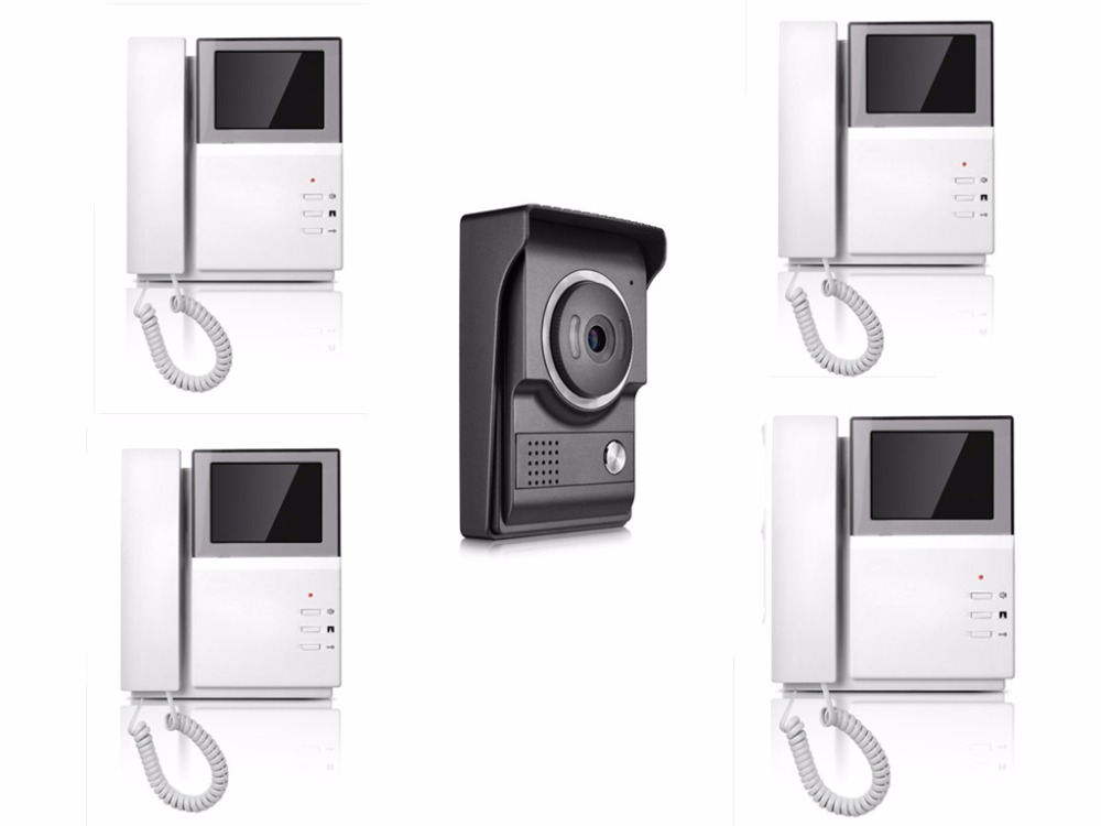 4.3 Inch 1V4 TFT Monitor Wired Intercom Video Door Phone XSL-43E156-L