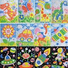 Сделай Сам космическая мозаика набор-сделай EVA свою собственную картинку животные Липкие Мозаики транспортные средства Искусство и ремесла творческие развивающие игрушки для детей