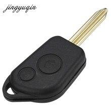 Jingyuqin 10 unids/lote carcasa del mando a distancia de la llave del coche para Citroen Elysee Saxo Xsara Picasso Berlingo caja de la llave de la hoja sin cortar