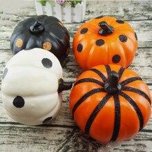 1pcs Large Simulation Bubble Pumpkin Halloween Party Decor Ornament Black Stem Joke Children Toys YSS9058