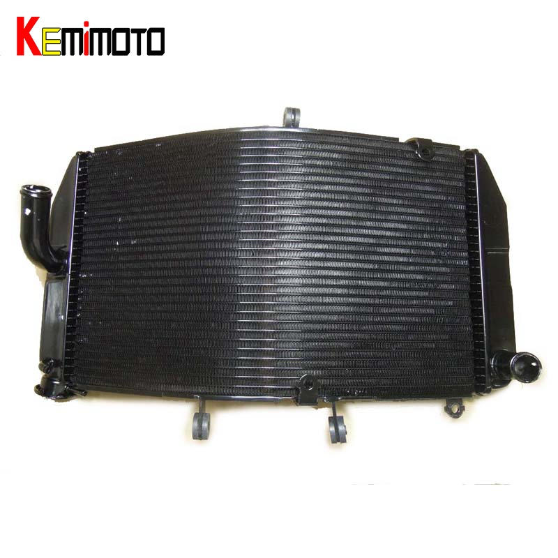 KEMiMOTO Motorcycle Radiator Cooler For Honda CBR600RR  2003 2004 2005 2006 Aluminum Radiator Cooler Cooling Kit