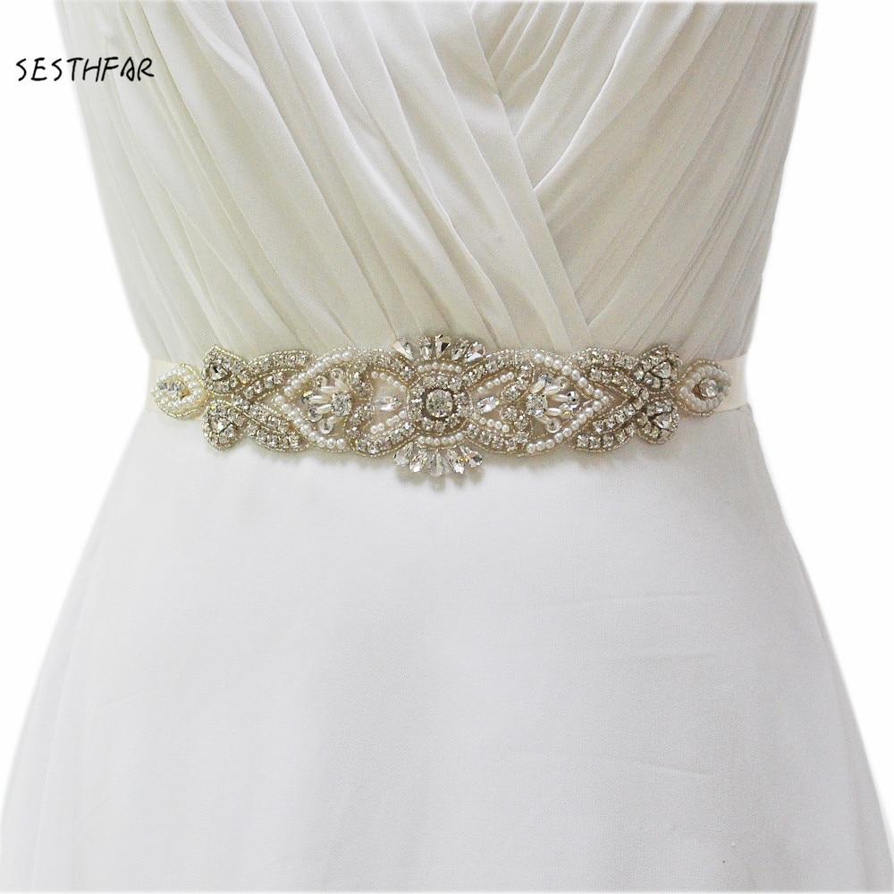 Bride Waistband Bridal Sashes Belts S208 Crystal Rhinestones Evening Party  Prom Dresses Accessories Wedding Belt Sashes 48e292c7b455