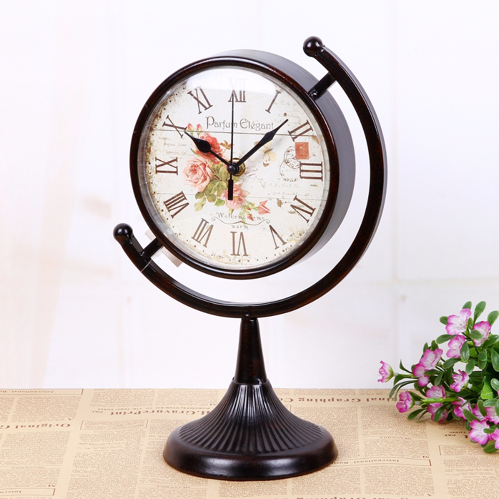 online buy wholesale craft decoration ideas from china craft ully wong freeshipping vintage art iron desktop clock compass silent clock movement craft home decoration idea