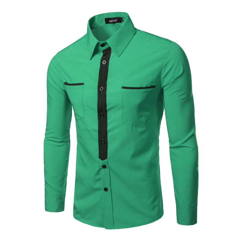 Popular Mens Shirts Green-Buy Cheap Mens Shirts Green lots from ...