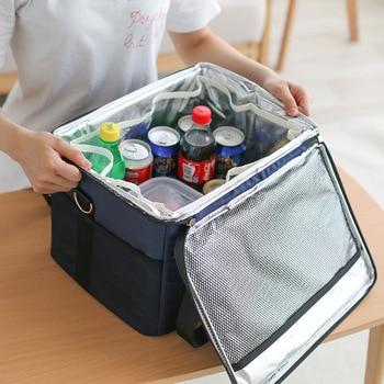 Rye Time Ice pack home Travel car Cooling bag Oxford shoulder bag aluminum foil Large capacity 47L portable cold but device