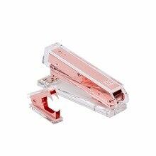 Розовое золото акриловый Степлер комплект канцелярские Настольные принадлежности 1) степлер 1) штапельное удаление