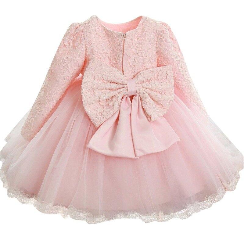 c5c3c82850 Słodkie sukienki dla dziewczynek urodziny dla dzieci długie rękawy księżniczka  sukienka dla dziewczynki suknie chrzest 1
