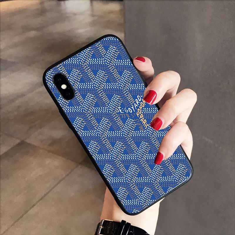new styles 3a145 ece61 RuiCaiCa Goyard Design Colourful Style Design Coque Shell Phone Case for  iPhone X XS MAX 6 6s 7 7plus 8 8Plus 5 5S SE XR