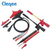 Cleqee P1800C 9 in 1 BNC Electronic Specialties Test Lead Automotive Test Probe Kit Multimeter probe leads kit Piercing Test Hoo