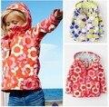 Niños chaqueta 6 unids/lote 2015 la primavera y el otoño femeninos chicas para el mini boden brands exterior trench jacket outerwear 2-7y