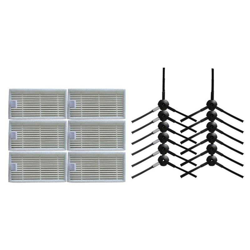 все цены на 18pcs/lot 12x side brush+6x HEPA Filter kit for ilife v55 robot vacuum cleaner parts онлайн