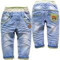 3697 мальчики девочки детские мягкие джинсы брюки Дети джинсы голубые случайные брюки весна осень брюки джинсовые ДЕТСКИЕ ДЖИНСЫ МОДА НОВЫЙ