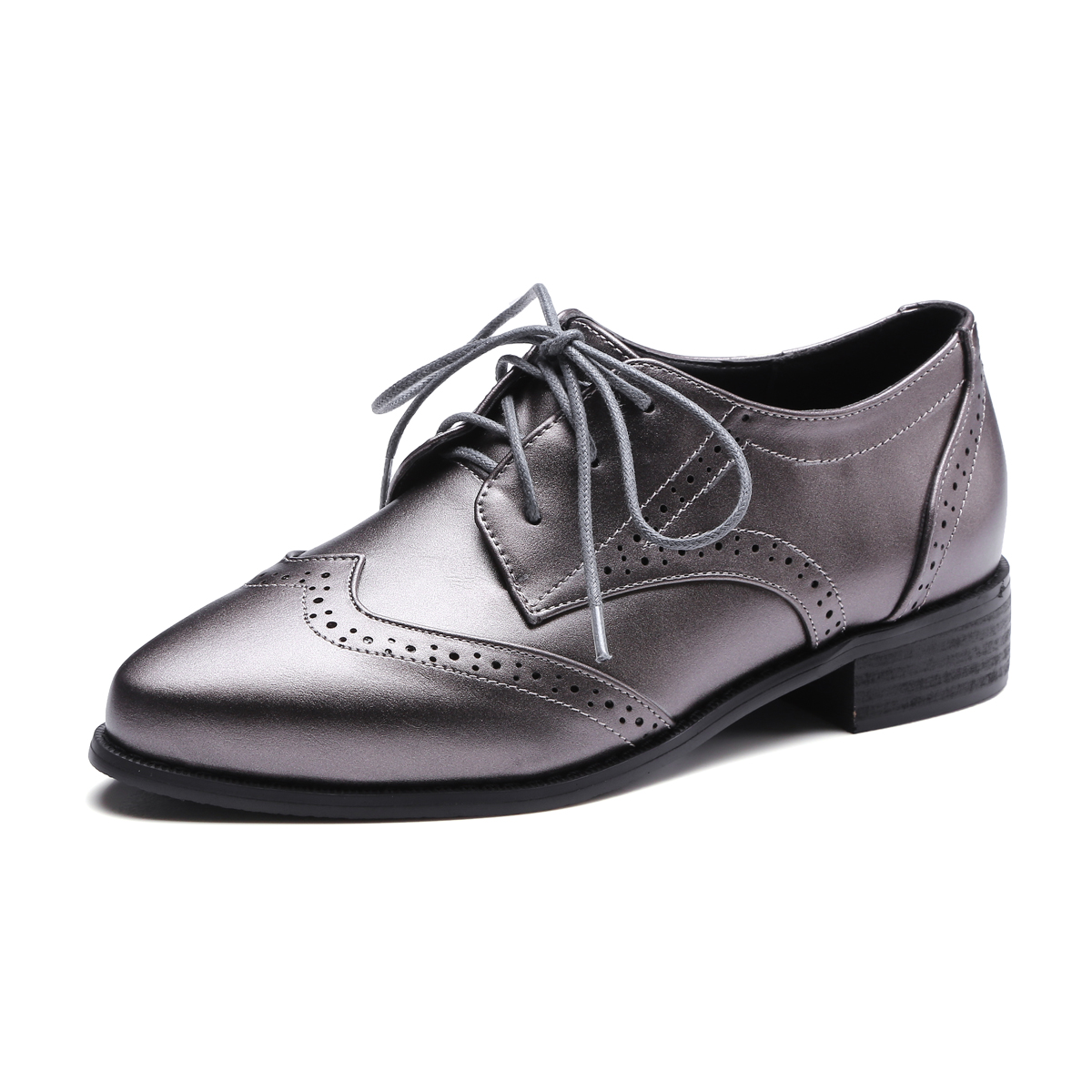1b9fe473bda Αγορά Γυναικεία παπούτσια   XIUNINGYAN British Retro Oxford Shoes for Women  Patent Leather Pointed Toe Flat Shoes Women Brogues Oxfords Lace Up Footwear