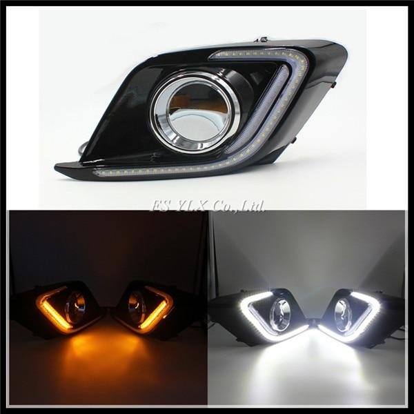 LED Daytime Running Light for Mazda 3 Axela Car Fog Lamp Mazda3 DRL 2014 2015  DRL with turn signal light For Mazda3 Axela turn signal light and daytime running lights 12v waterproof led for mazda 3 axela 2014 2015