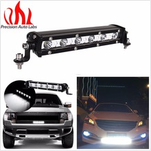 CARBOLE 8.7 inch 18W Spot Beam Ultra Slim Single LED Light Bar Work Off-road For Jeep Truck 4*4 SUV ATV Tractor
