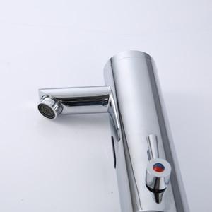 Image 3 - חדש חם קר מיקסר אוטומטי יד מגע ברז חם קר מיקסר סוללה כוח משלוח חיישן ברז אמבטיה כיור XR8805