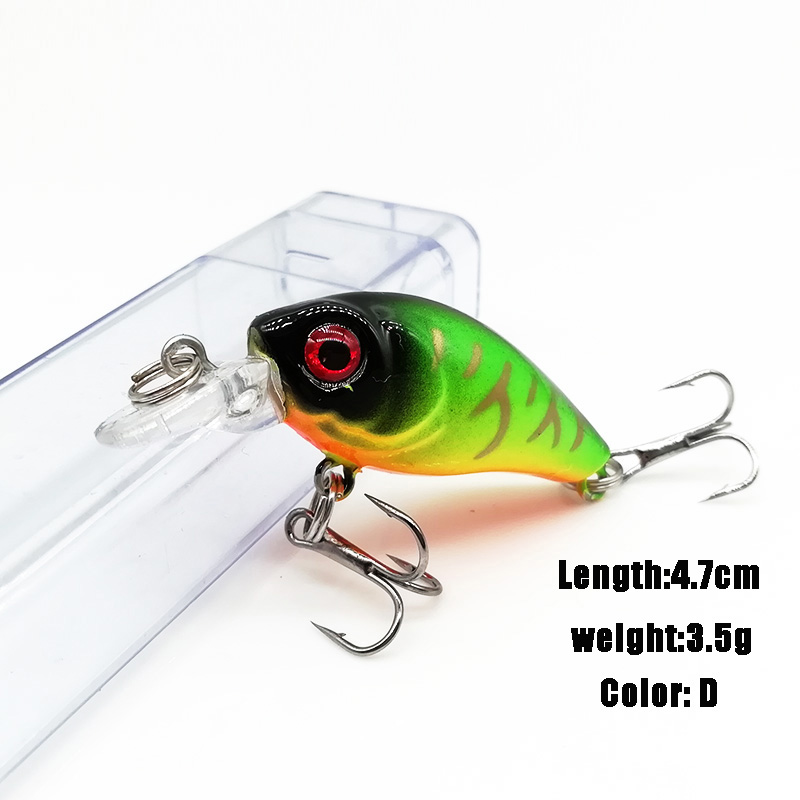 Lifelike Minnow Fishing Lure Wobbler Slow Floating 7CM 6.5G Plastic Crankbait Hard Bait 5 Colors Available Fishing Tackle