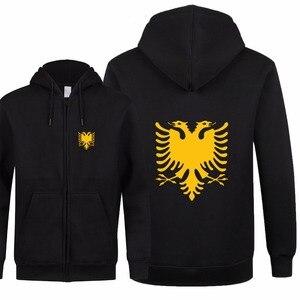 Image 3 - New Fashion Albania Felpe Autunno Donna Uomo Zipper Cappotto Da Uomo e Giacca In Pile Con Cappuccio Slim Fit Streetwear di Alta Qualità XS 2XL