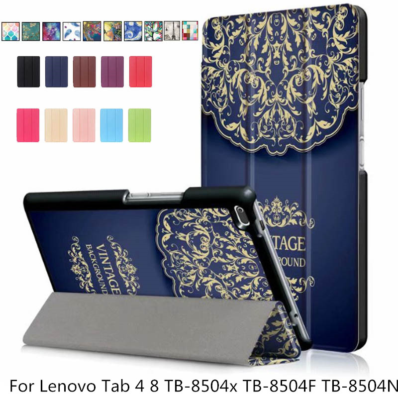 Ultra Slim PU Leather Cover Case For Lenovo Tab4 Tab 4 8 TB-8504x TB-8504F TB-8504N TB-8504 8inch Tablet Funda Flip Magnet Case