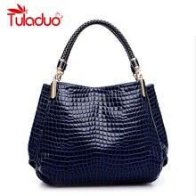 Bolsas Femininas Hot Sale Brand Women Single Shoulder High Grade PU Leather Crocodile Pattern Bags Bolsas Casual Tote Handbags