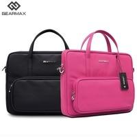 Gearmax Women Messenger Bags Pink Black Laptop Bag Briefcase 13 Men Case Laptops For Macbook Air 13 Case Zipper Handbag Fashion