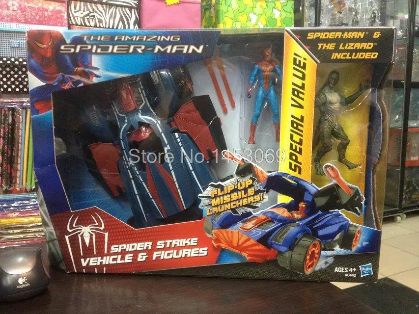 The Amazing Spider-man Spider Strike Vehicle Figures Spiderman PVC Action Figure Collection Model Toy SPM105 пластилин spider man 10 цветов