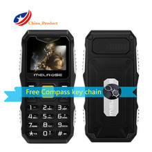 Melrose S10 Russian Keys Big Voice LED Flashlight FM MP3 bluetooth FM mini size Rugged pocket student card Elder Outdoor phone(China)