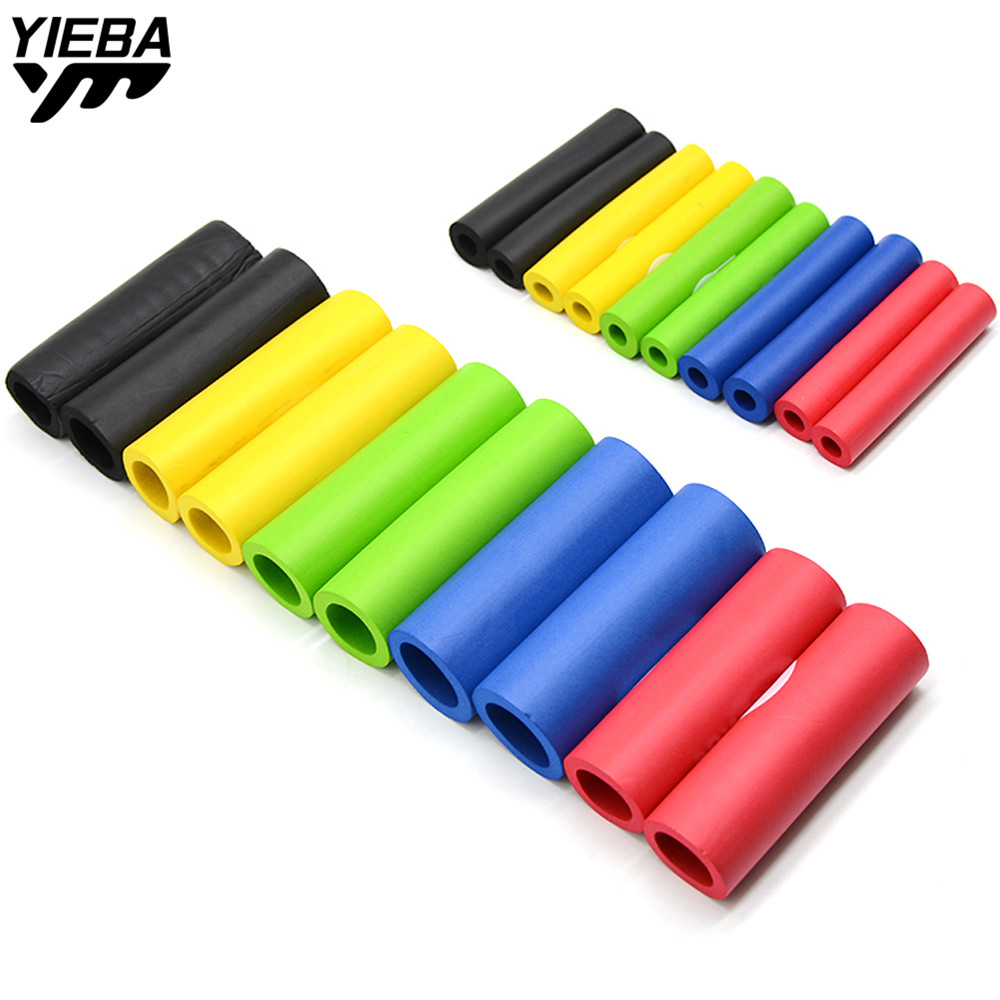 1pair 22mm Handbar Motorbike Racing Bicycle Motorcycle Handle Bar Foam Sponge Grip Cover Nonslip Soft Handlebar Bike Bar Sponge
