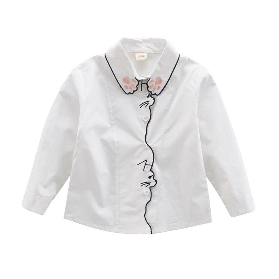 13 47 Filles Blanc Blouse Printemps Dessin Animé Enfants Chemises Pour Filles 6 8 10 12 14 Ans Adolescents Enfants Vêtements D école Dans Blouses