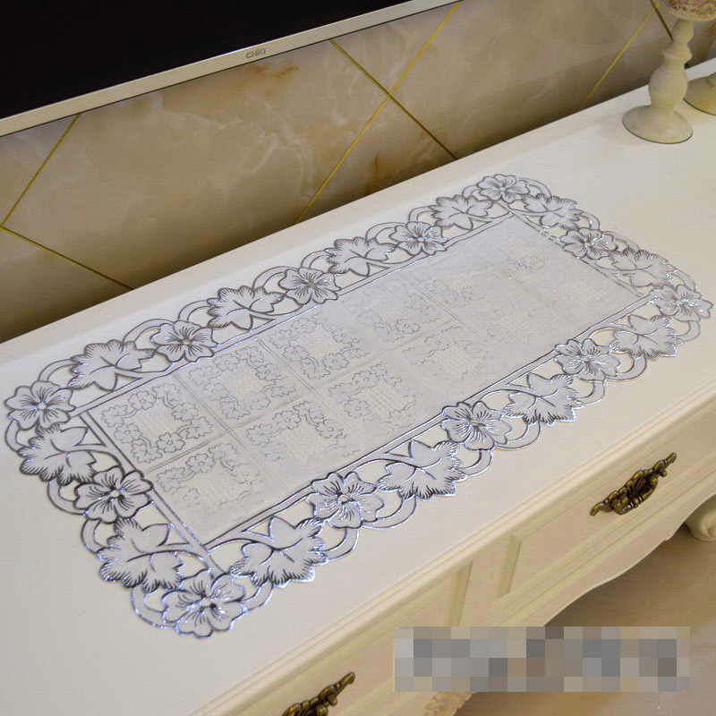 PVC Tablecloth TV Bench Coffee Dining Tea Table Decorative Cover Mat Pad Floral Table Cl ...
