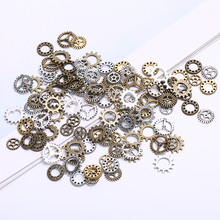8-12mm Vintage Metal Small Gear Charms for Jewelry Making Fashion Handmade Accessories DIY Classic Gears Pendant Charms vintage metal mixed angel wings charms diy handmade classic accessories fashion charms for jewelry making 100pieces lot