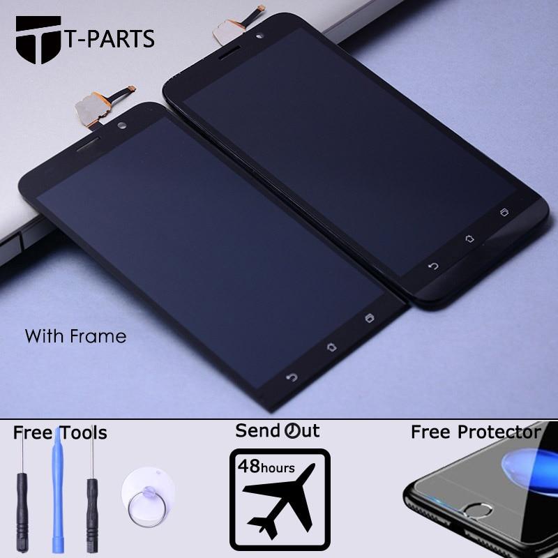 imágenes para Prueba de 1280x720 Para ASUS Zenfone 2 ZE550ML Pantalla Táctil LCD con el Marco de la Asamblea Del Digitizador Para ASUS Zenfone 2 ZE550ML LCD pantalla