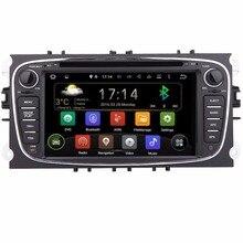 Бесплатная доставка Android 2Din 7 дюймов Автомобильный DVD для Ford Focus Mondeo 2012 2013 2014 2015 WI-FI Радио GPS BT для форд автомобиль DVD фокус