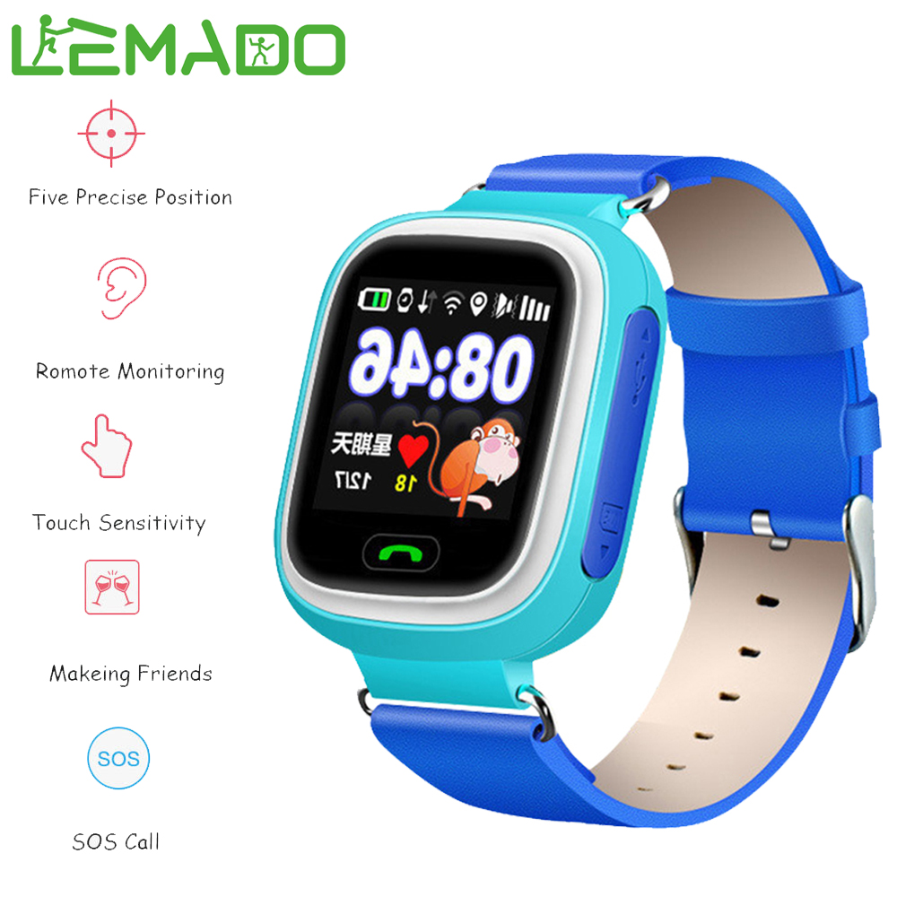 ФОТО Lemado Smartwatch GPS Baby Touch Screen Waterproof WIFI Position SOS Location Finder Kid Anti Lost Monitor Voice Chat Wristwatch