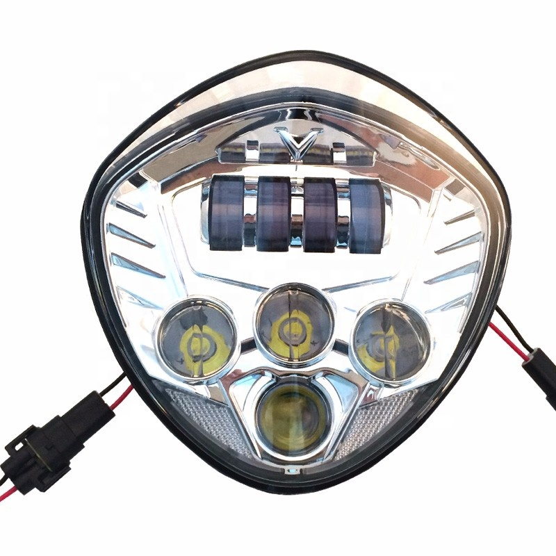 60W Motorcycle LED Headlight With Hi/Lo Beam For Victory Vegas 2010-2016 Cross Country 2011-2007 Hammer