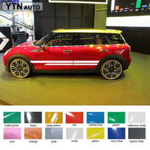 2PC free shipping racing side door stripe styling graphic Vinyl car stickers for mini