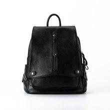 Новый 2017 модно рюкзак женская молнии рюкзак Кожа многофункциональный леди сумки высокого качества сумки
