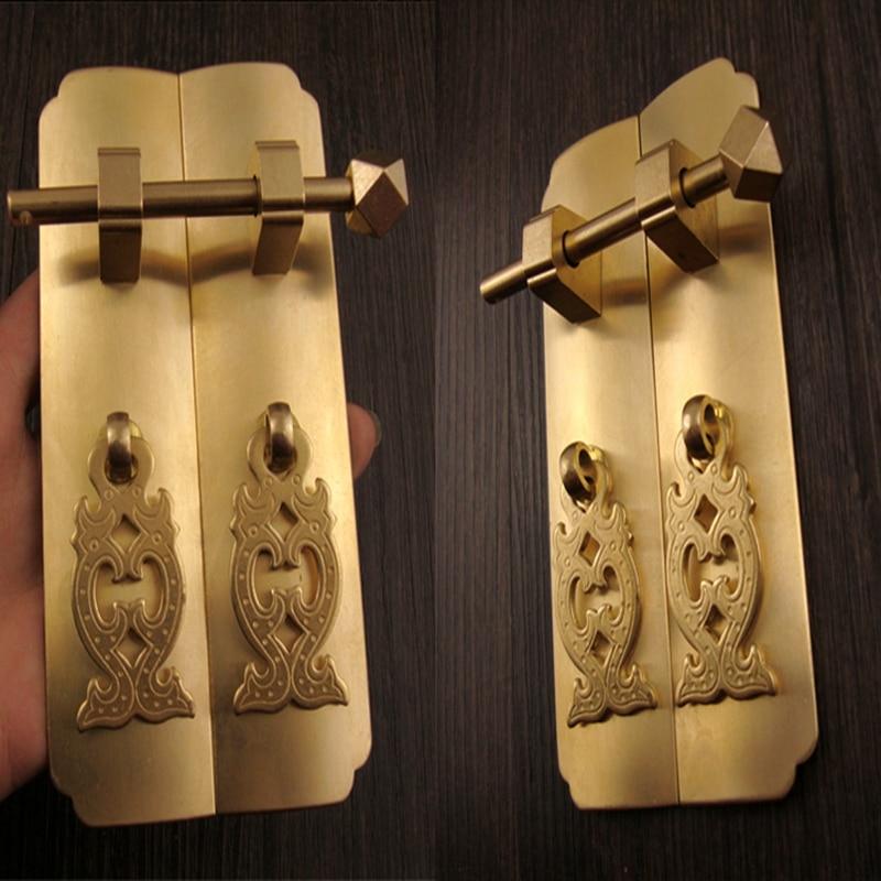 1 set antique Dynasty furniture copper fittings cupboard cupboard brass handle [haotian vegetarian] antique copper straight handle antique furniture copper fittings copper handicrafts htc 041
