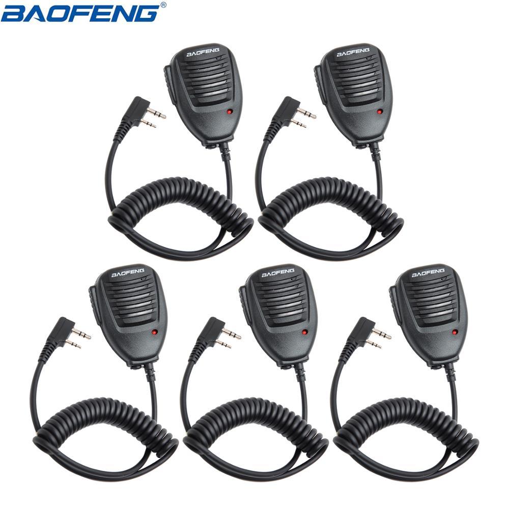 BF-F8HP 2PCS Baofeng Microphone PTT Speaker Mic For Kenwood BAOFENG UV-5R 5R