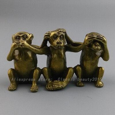 28 28 46 De Descuento Feng Shui Tres Monos Sabios Escuchar Ver Hablar No Mal 3 Mono 8 Cm En Estatuas Y Esculturas De Hogar Y Jardin En