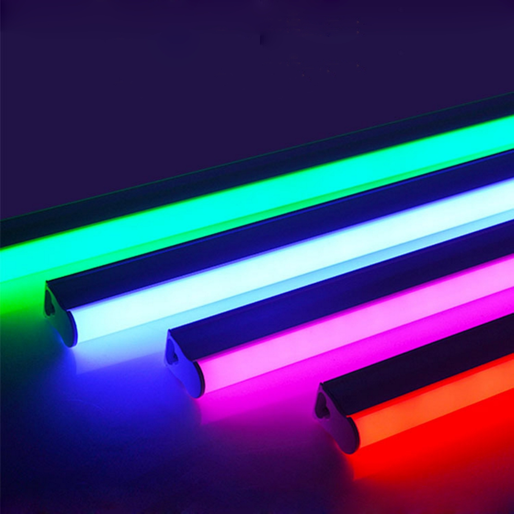 2835SMD T5/T8 Integrated Led Color Tube 0.3m/0.6m Led Red,Green,Blue,Pink,Purple Tube For Fresh Food AC100-265V