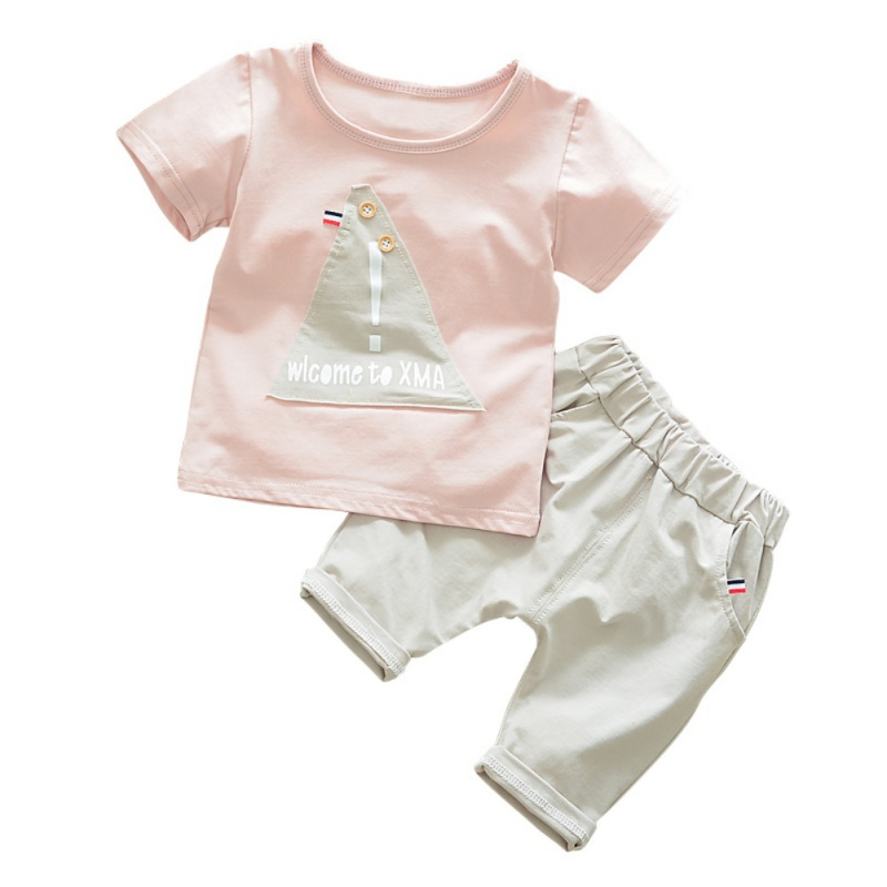 New Children Boys Girls Clothes Kids Short Cotton Print T-shirt+Pants Summer Comfortable Baby Boys Girls Clothing Set