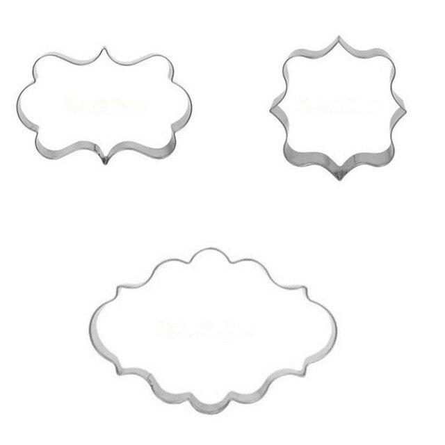 1 комплект (3 шт.) из нержавеющей стали печенье Форма торта Форма для выпечки Форма для сахарных украшений рамка резак вечерние клубный инструмент для крошения льда rgse